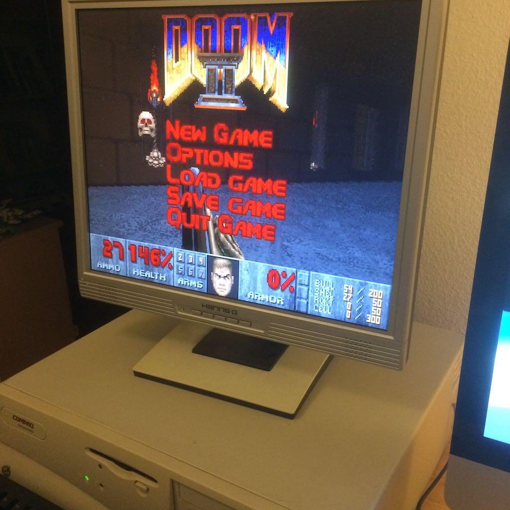 Doom 2 auf meinem uralten Vintage PC, 166 Mhz