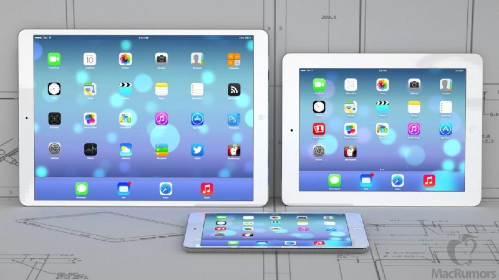 iPad Pro neben iPad und Air