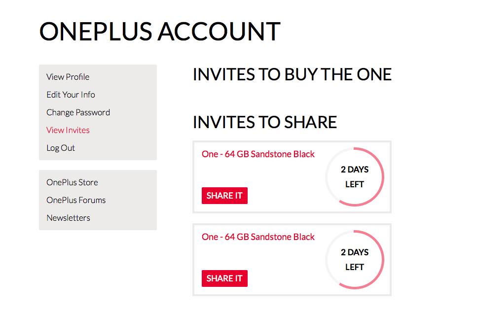 two Invites OnePlus One thafaker.de