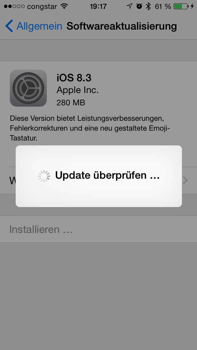iphone ios 8.3 update OTA