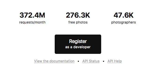 Unplash Register Developer Ghost Blog