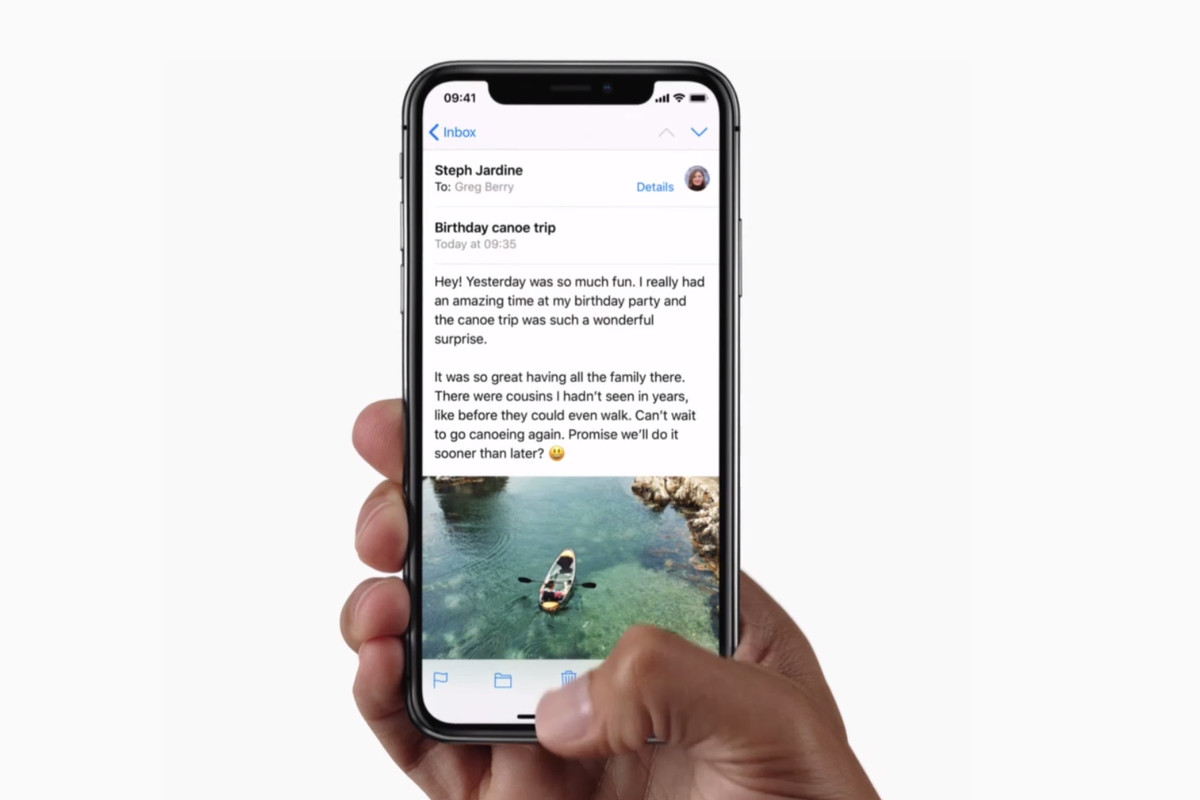 iPhone X Mail.app