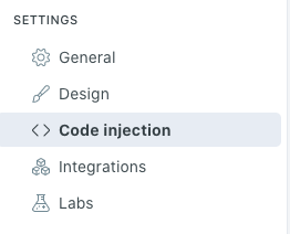 Ghost CMS Code injection
