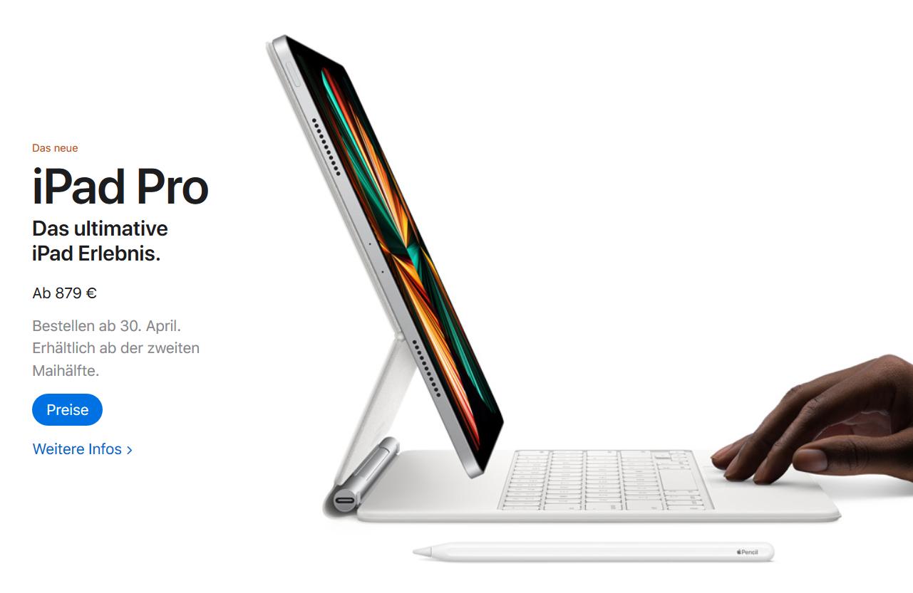 Das neue iPad Pro (C) Apple.com