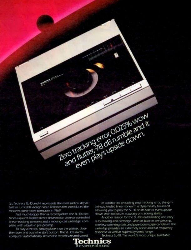 Technics Werbung zum SL 10