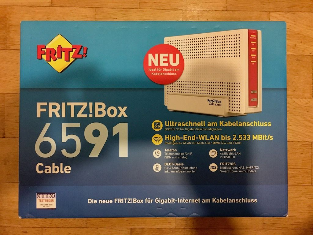 FRITZ!Box 6591 Cable bei den Hipsters
